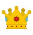 precious crown icon isolated vector image vector image