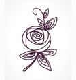 rose stylized flower symbol vector image vector image