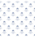 seamless pattern with cruise ship line style vector image vector image