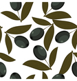 Seamless texture of black olives vector image