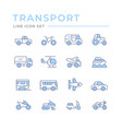 set color line icons transport vector image