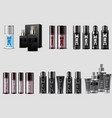 set men cosmetic packaging on white background vector image vector image