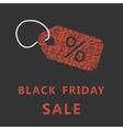 sketch typography black friday sale with label vector image