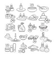 spa icon set black line sp vector image vector image