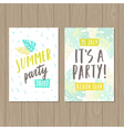 Summer party Two flyer or posters templates vector image vector image