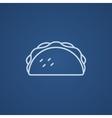 Taco line icon vector image vector image