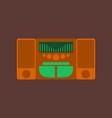 technology gadget in flat design music center vector image