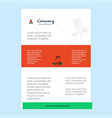 template layout for rose comany profile annual vector image