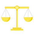 themis scales isolated measuring device law sign vector image