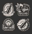 vintage monochrome brewery labels vector image vector image