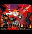 war explosions vector image vector image
