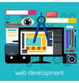 Web design and development flat concept vector image vector image