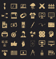 web management icons set simple style vector image vector image
