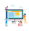 website development concept web developers vector image