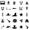 cowboy icon set vector image