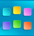 Blank colorful buttons vector image