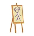 Easel art board vector image