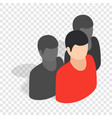 avatar men isometric icon vector image vector image