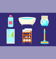 bath equipment and accessories set modern vector image