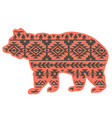 bear aztec style tribal design ethnic ornament vector image