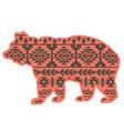 bear aztec style tribal design ethnic ornament vector image vector image