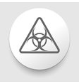 Biohazard symbol vector image vector image