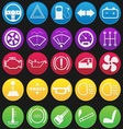 Car Dashboard Icon Set Gradient vector image