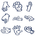 Cartoon gloved hands clip art vector image vector image