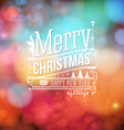 Christmas greeting card Merry Christmas lettering vector image