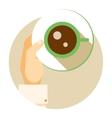 Coffee cup circular icon vector image vector image