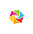 color people logo icon design vector image