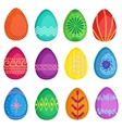 colorful easter eegs set vector image
