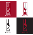 concept with bottle wine and sandglass vector image