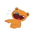 cute bear laughing vector image vector image