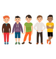cute little boys characters vector image vector image