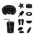 design of equipment and swimming logo vector image vector image