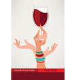 drinking time vector image vector image