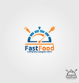 fast food logo template vector image vector image