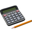finance budget calculation with pencil vector image