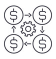 finance management linear icon sign symbol vector image