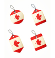 flag canada labels vector image vector image