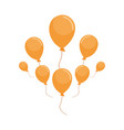 flying balloons decoration vector image