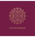 Golden floral emblem