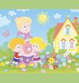 granny and grandchildren vector image