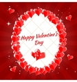 Greeting Card Happy Valentine s Day hearts vector image vector image