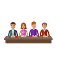 group of judges or students exam education vector image vector image