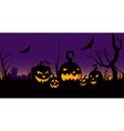 halloween celebration in the garden vector image vector image