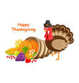 happy thanksgiving day poster text turkey vector image vector image
