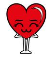 heart love sad kawaii character vector image