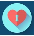 heart with keyhole icon vector image vector image